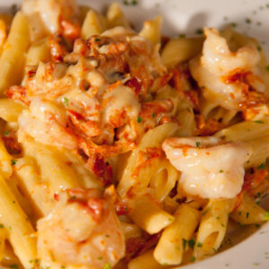 Sundried-Tomato-Pasta-with-Shrimp